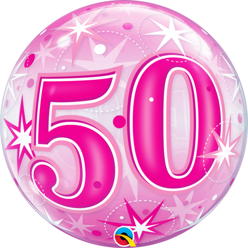 50TH PINK STARBURST SPARKLE from Flingers Party World Bristol Harbourside who offer a huge range of fancy dress costumes and partyware items