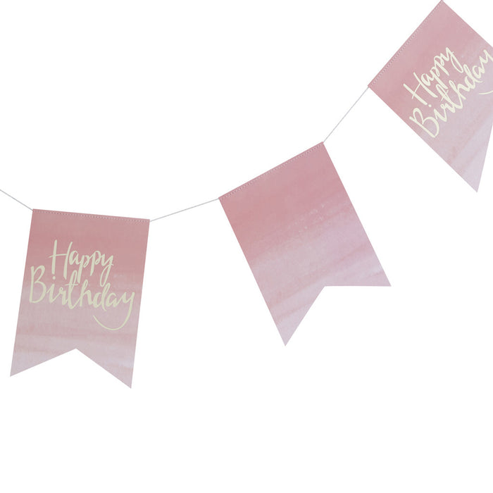 PICK AND MIX OMBRE HAPPY BIRTHDAY BUNTING from Flingers Party World Bristol Harbourside who offer a huge range of fancy dress costumes and partyware items