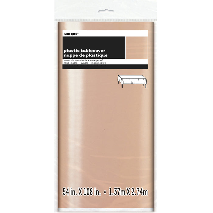 METALLIC ROSE GOLD TABLECOVER