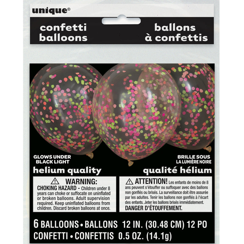 NEON CONFETTI BALLOONS from Flingers Party World Bristol Harbourside who offer a huge range of fancy dress costumes and partyware items
