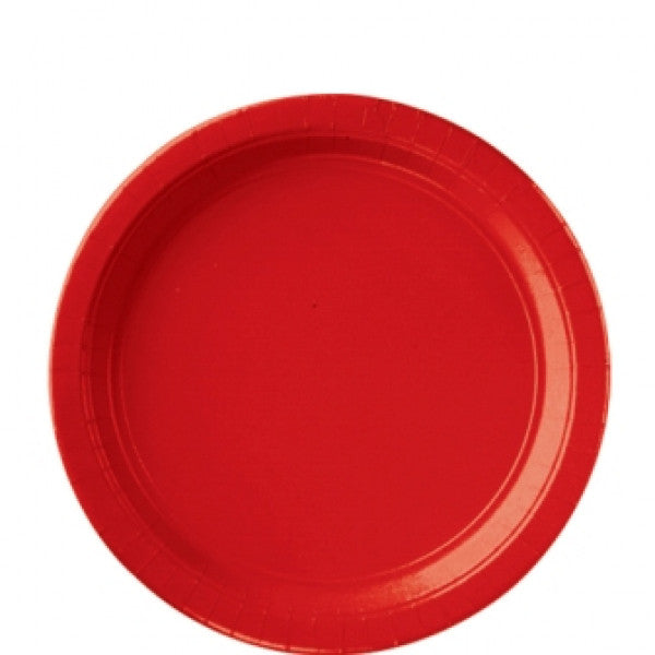 "APPLE RED 9"" PAPER PLATES from Flingers Party World Bristol Harbourside who offer a huge range of fancy dress costumes and partyware items"