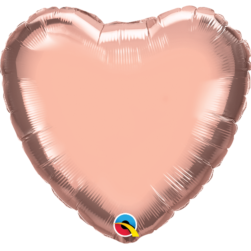 ROSE GOLD HEART FOIL from Flingers Party World Bristol Harbourside who offer a huge range of fancy dress costumes and partyware items