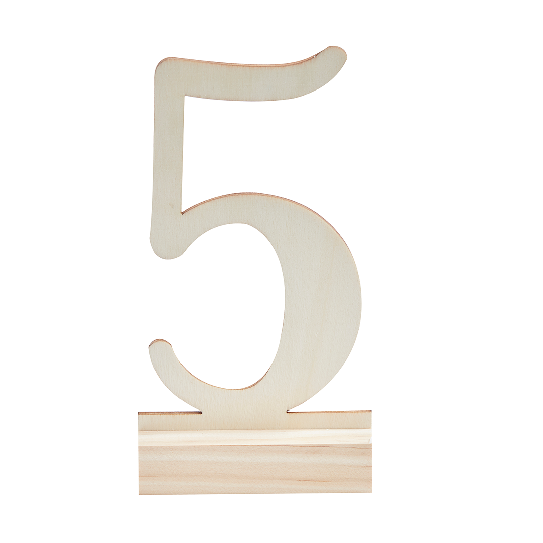 WOODEN TABLE NUMBERS from Flingers Party World Bristol Harbourside who offer a huge range of fancy dress costumes and partyware items
