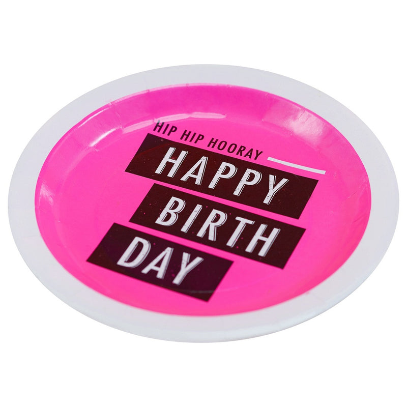 HIP HIP HOORAY BIRTHDAY PLATE from Flingers Party World Bristol Harbourside who offer a huge range of fancy dress costumes and partyware items
