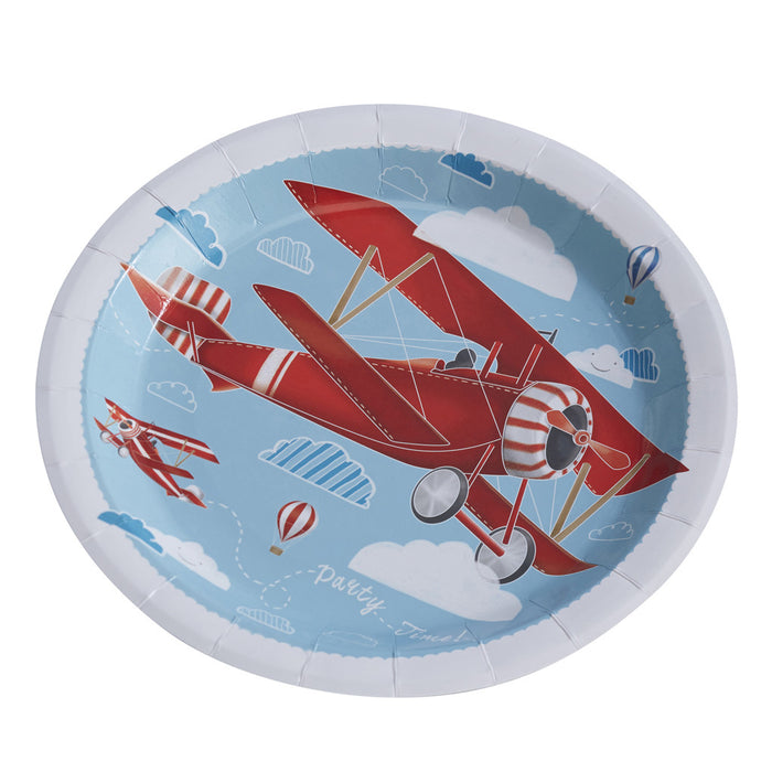 Flying High Paper Plates from Pop Cloud Bristol who offer a huge range of partyware, wedding and event hire decorations
