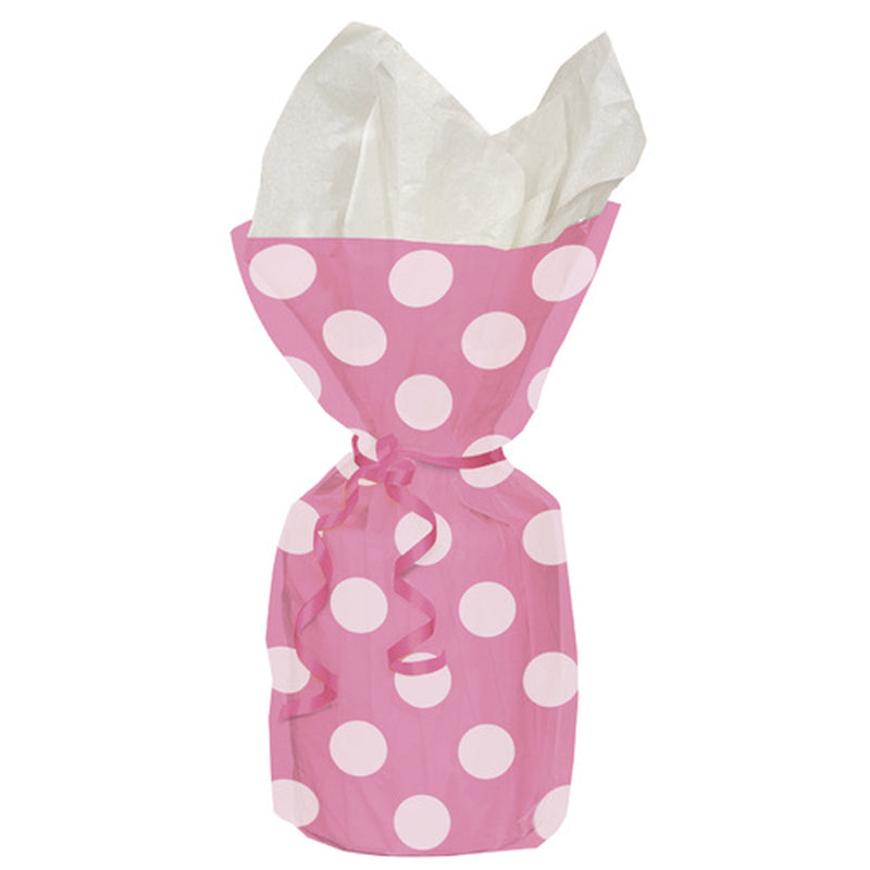 20 HOT PINK DOTS CELLO BAGS from Flingers Party World Bristol Harbourside who offer a huge range of fancy dress costumes and partyware items