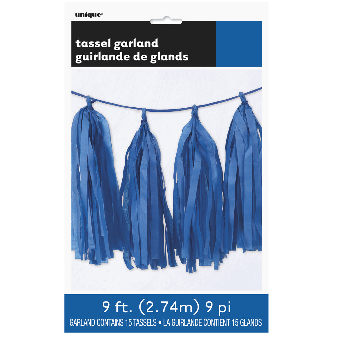 ROYAL BLUE TASSEL GARLAND from Flingers Party World Bristol Harbourside who offer a huge range of fancy dress costumes and partyware items