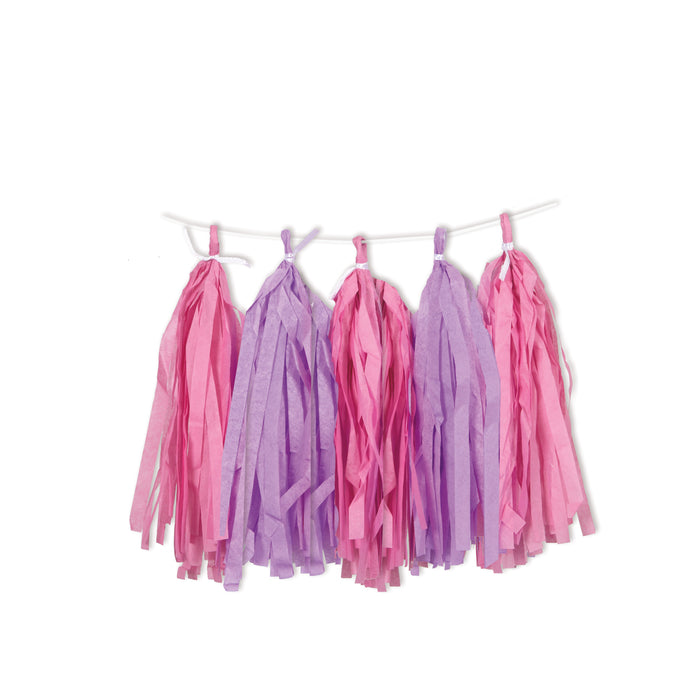 PINK & PURPLE TASSEL GARLAND from Flingers Party World Bristol Harbourside who offer a huge range of fancy dress costumes and partyware items