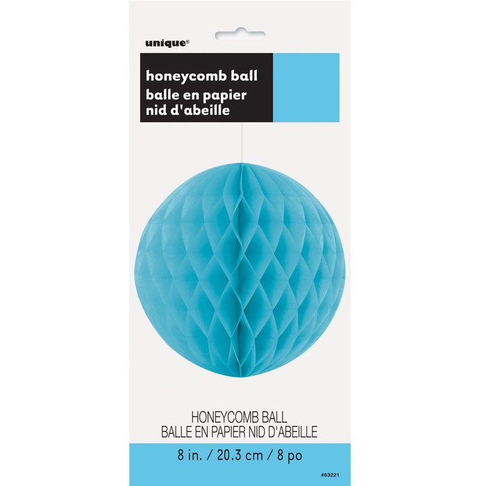 BLUE HONEYCOMB BALL from Flingers Party World Bristol Harbourside who offer a huge range of fancy dress costumes and partyware items