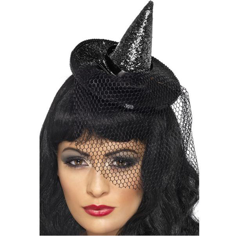 MINI WITCHES HAT ON HEADBAND from Flingers Party World Bristol Harbourside who offer a huge range of fancy dress costumes and partyware items