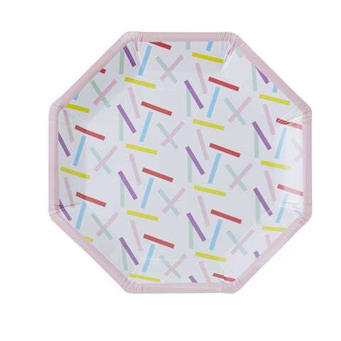 Pick & Mix Sprinkles Paper Plates from Pop Cloud Bristol who offer a huge range of partyware, wedding and event hire decorations