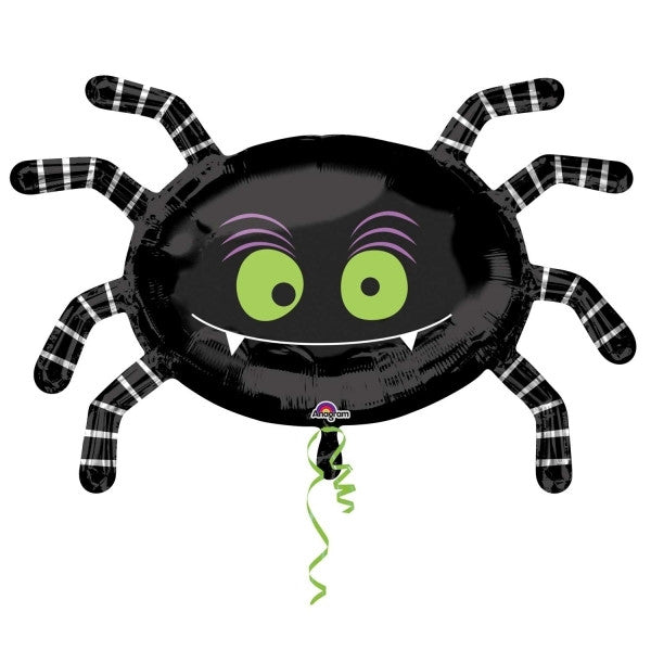 "STRIPED SPIDER 31"" FOIL BALLOON from Flingers Party World Bristol Harbourside who offer a huge range of fancy dress costumes and partyware items"