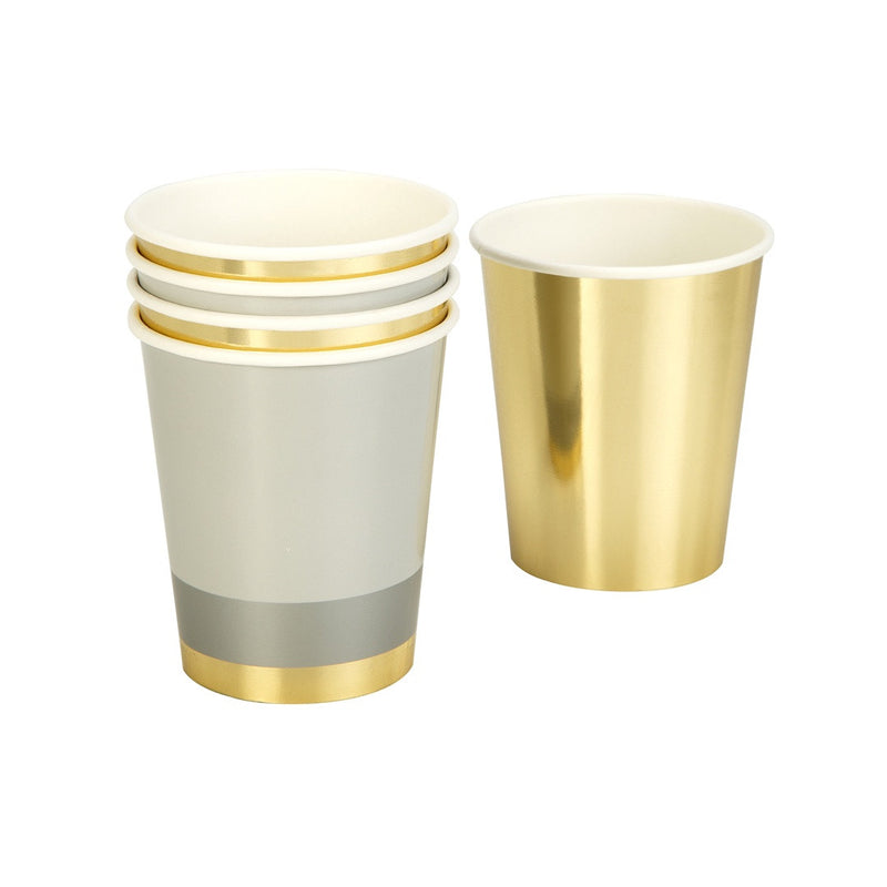 Modern Metallics Paper Cup from Pop Cloud Bristol who offer a huge range of partyware, wedding and event hire decorations