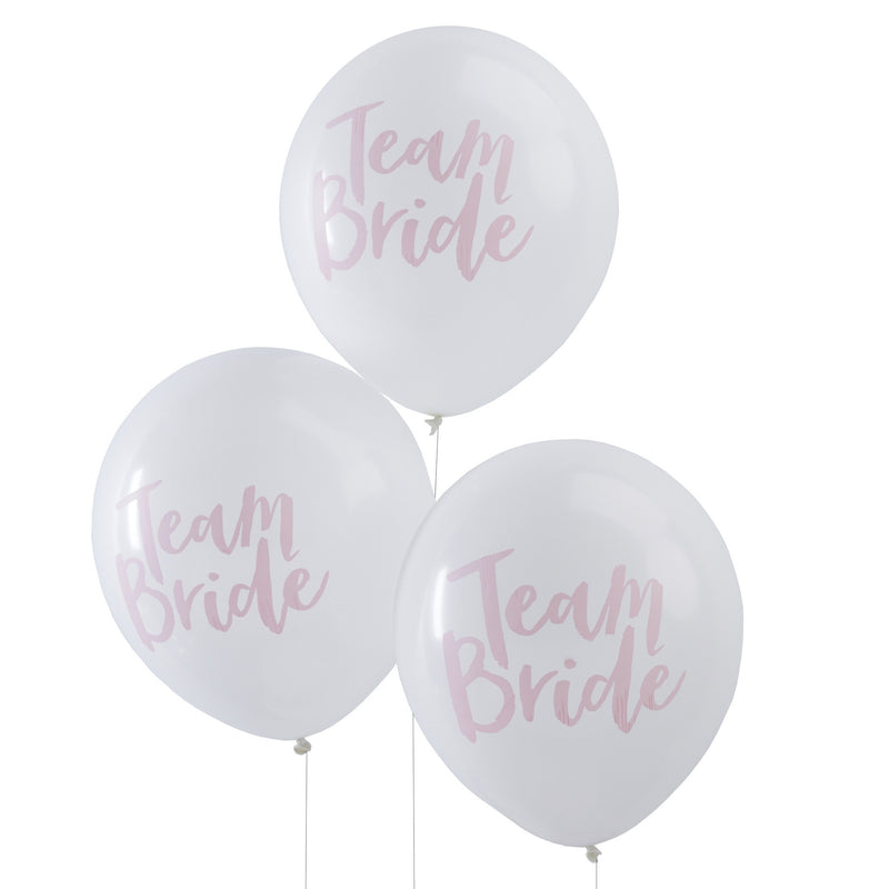 Team Bride Balloons from Pop Cloud Bristol who offer a huge range of partyware, wedding and event hire decorations