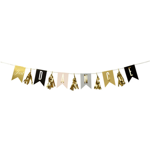 Glitterati Just Dance Garland from Pop Cloud Bristol who offer a huge range of partyware, wedding and event hire decorations