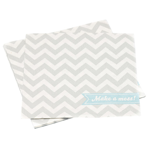 Chevron Divine Napkins from Pop Cloud Bristol who offer a huge range of partyware, wedding and event hire decorations