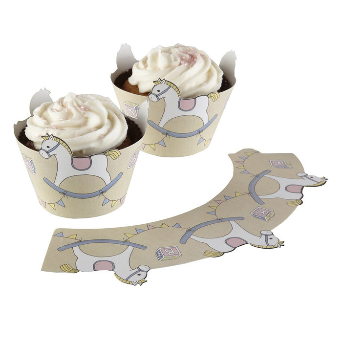ROCK-A-BYE BABY CUPCAKE WRAPS from Flingers Party World Bristol Harbourside who offer a huge range of fancy dress costumes and partyware items