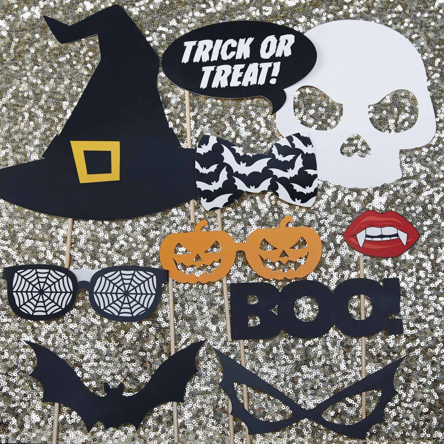 TRICK OR TREAT PHOTO BOOTH PROPS from Flingers Party World Bristol Harbourside who offer a huge range of fancy dress costumes and partyware items