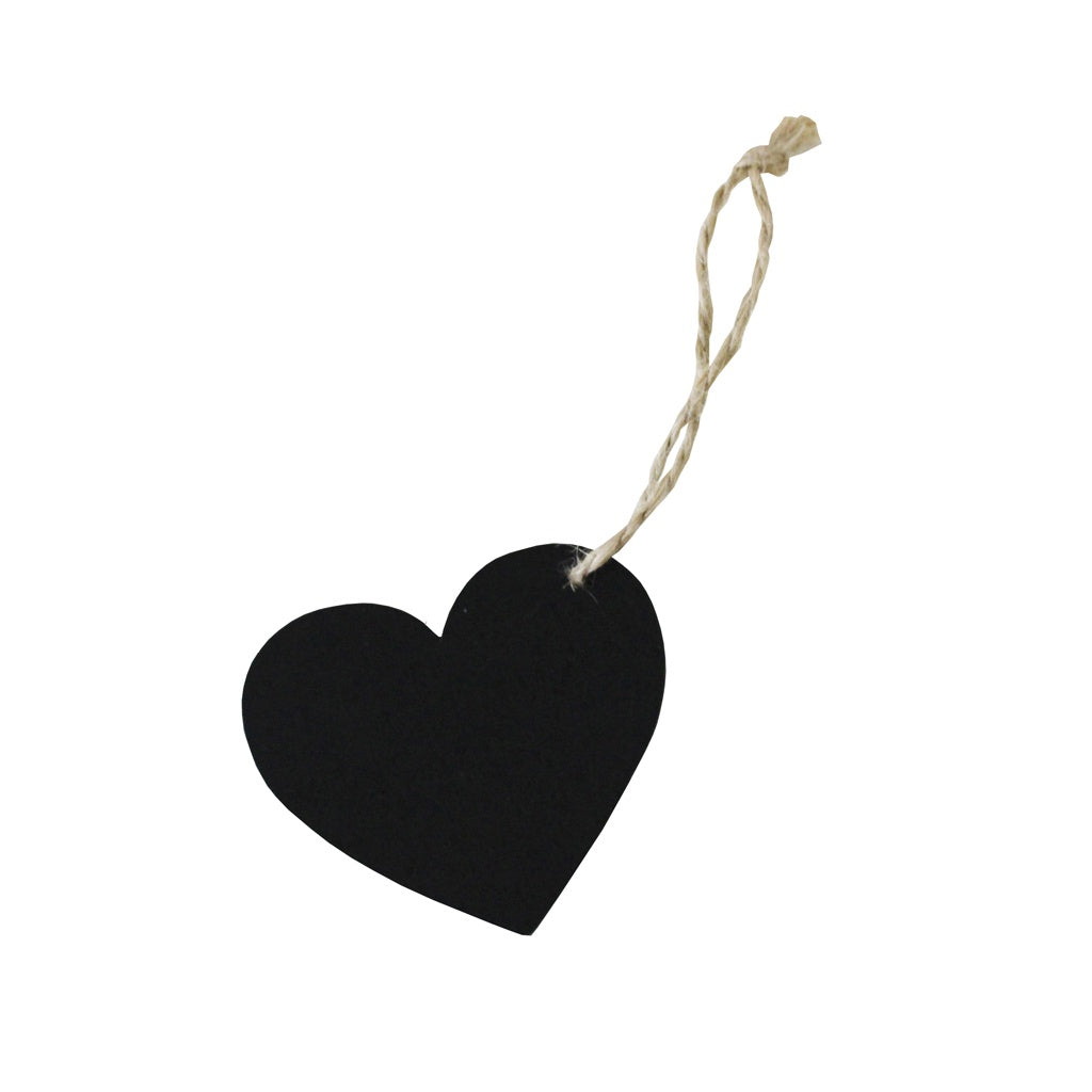 MINI CHALKBOARD HEART TAGS X 6 from Flingers Party World Bristol Harbourside who offer a huge range of fancy dress costumes and partyware items