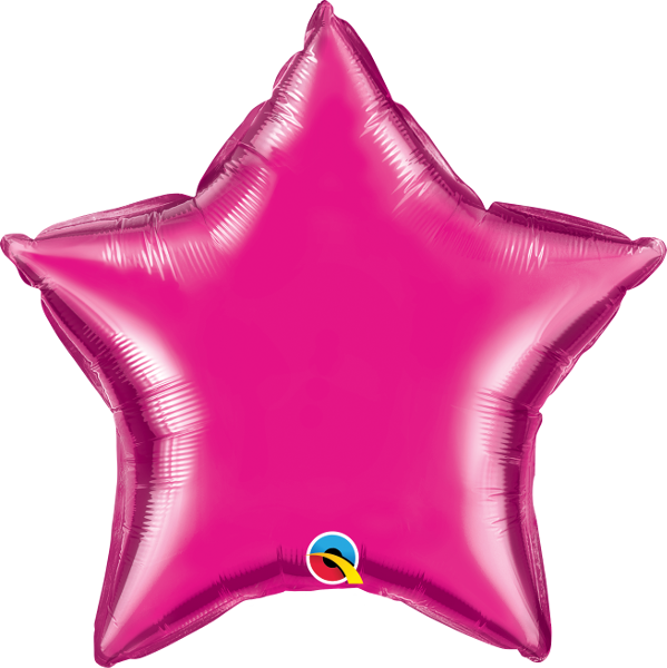 MAGENTA STAR FOIL from Flingers Party World Bristol Harbourside who offer a huge range of fancy dress costumes and partyware items