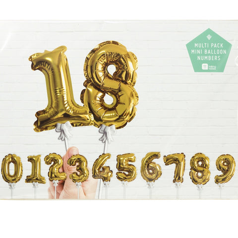 Party Time Mini Gold Balloon Toppers from Pop Cloud Bristol who offer a huge range of partyware, wedding and event hire decorations