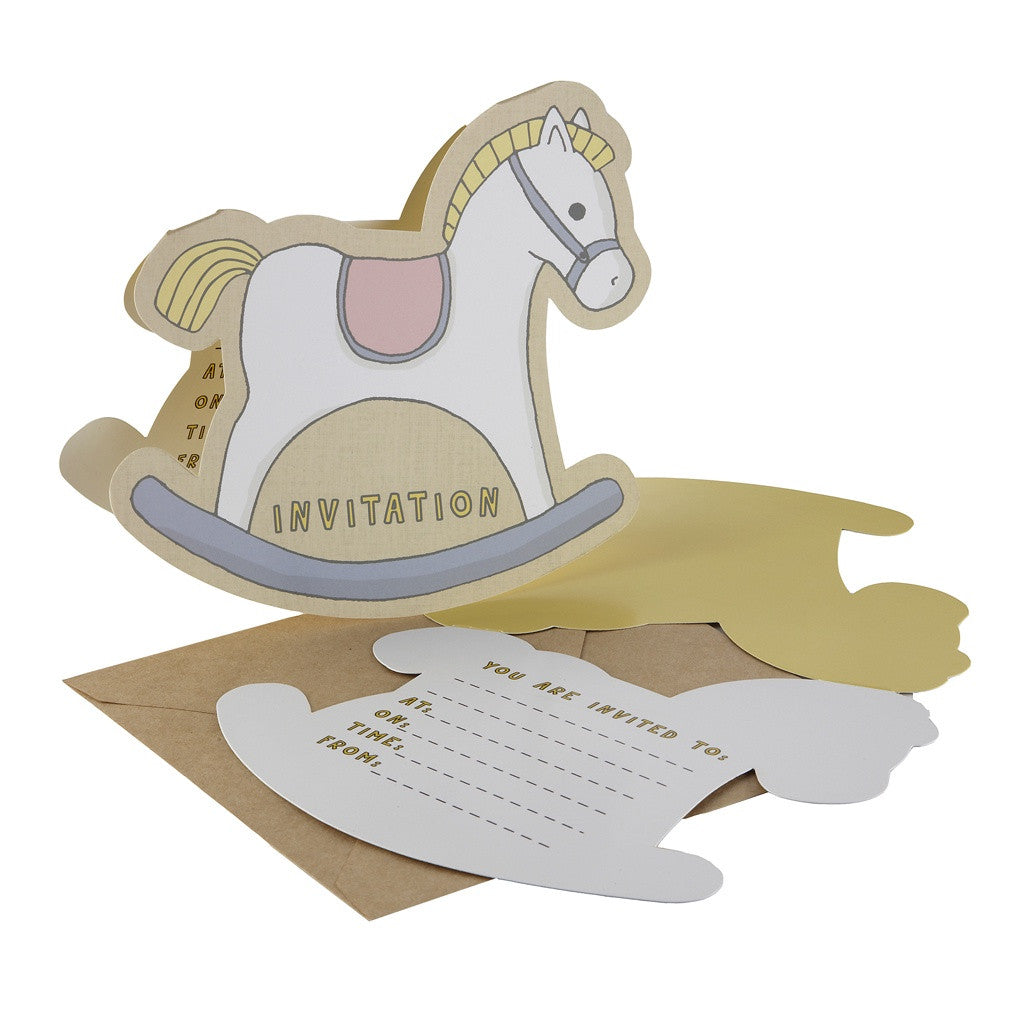 ROCK-A-BYE BABY INVITATIONS from Flingers Party World Bristol Harbourside who offer a huge range of fancy dress costumes and partyware items