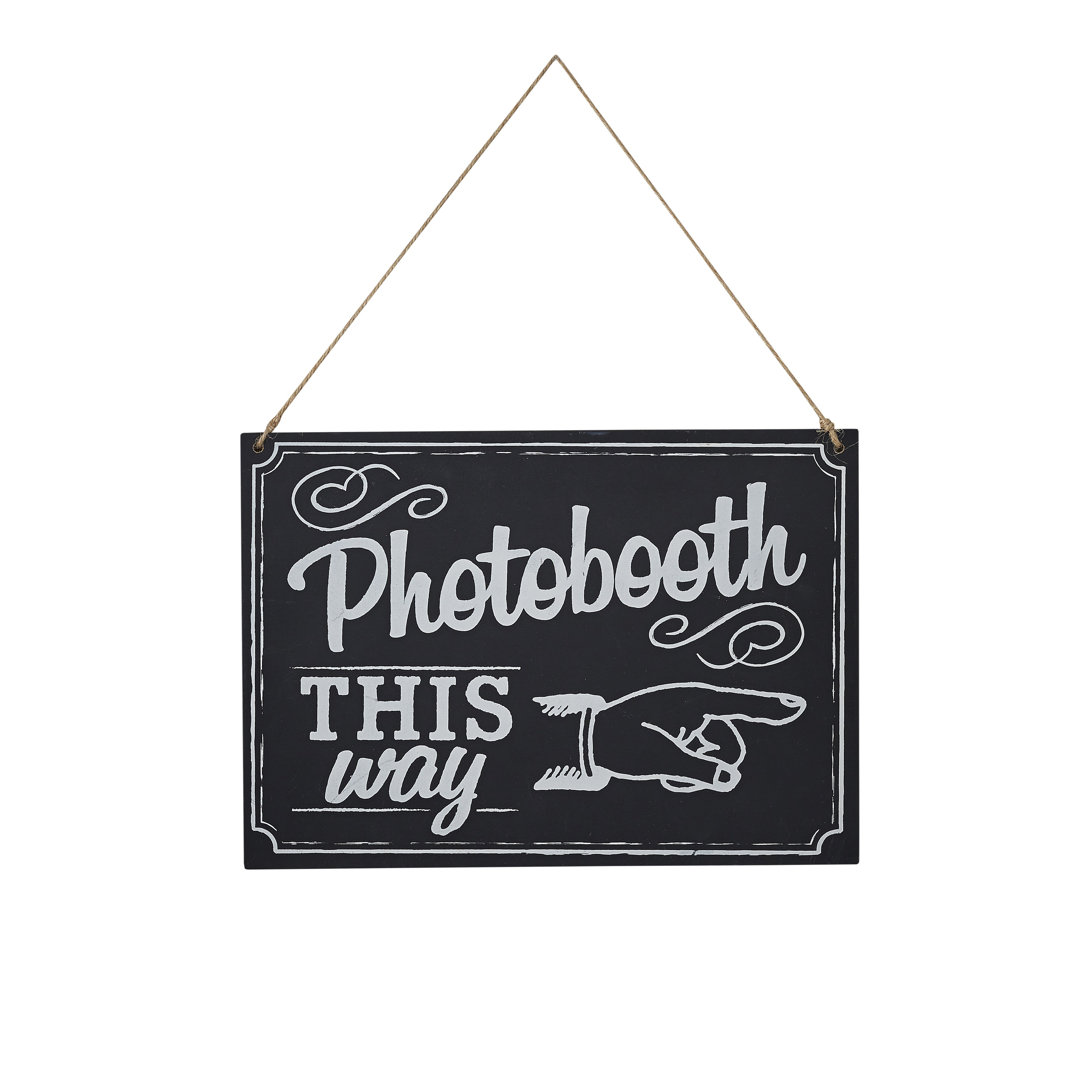CHALKBOARD WOODEN PHOTOBOOTH SIGN from Flingers Party World Bristol Harbourside who offer a huge range of fancy dress costumes and partyware items