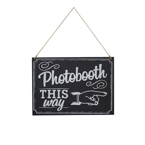 CHALKBOARD WOODEN PHOTOBOOTH SIGN
