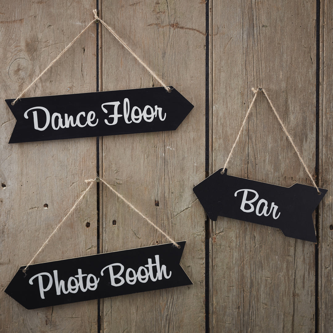CHALKBOARD ARROW SIGNS from Flingers Party World Bristol Harbourside who offer a huge range of fancy dress costumes and partyware items