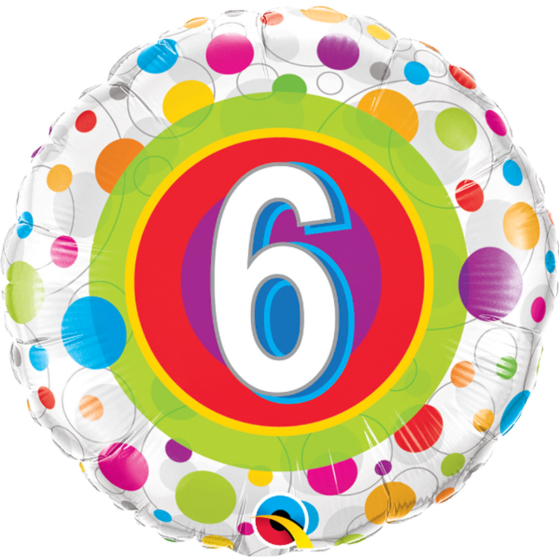 AGE 6 COLOURFUL DOTS from Flingers Party World Bristol Harbourside who offer a huge range of fancy dress costumes and partyware items