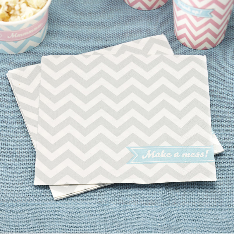 CHEVRON DIVINE NAPKINS from Flingers Party World Bristol Harbourside who offer a huge range of fancy dress costumes and partyware items