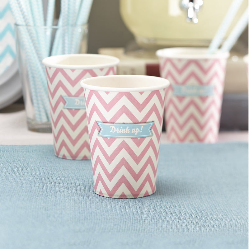 CHEVRON DIVINE PINK CUPS from Flingers Party World Bristol Harbourside who offer a huge range of fancy dress costumes and partyware items