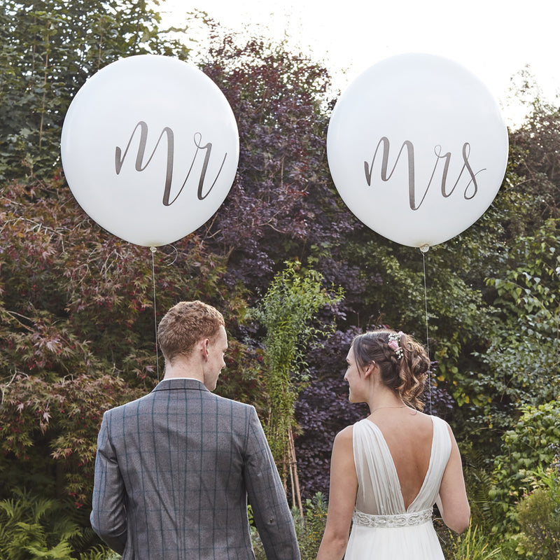 MR & MRS BALLOON' from Pop Cloud Bristol www.popcloud.co.uk who offer a huge range of partyware, wedding and event hire decorations