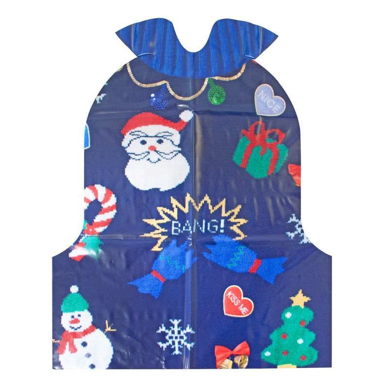 CHRISTMAS ENTERTAINMENT PLASTIC JUMPER BIBS from Flingers Party World Bristol Harbourside who offer a huge range of fancy dress costumes and partyware items