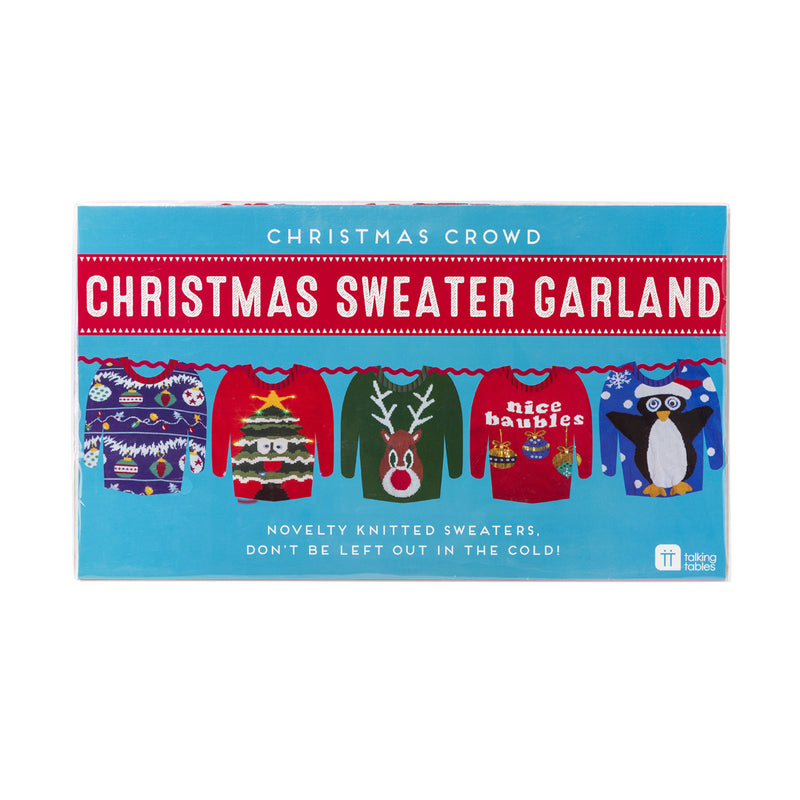 CHRISTMAS ENTERTAINMENT UGLY CHRISTMAS JUMPER GARLAND from Flingers Party World Bristol Harbourside who offer a huge range of fancy dress costumes and partyware items
