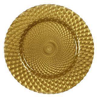 GOLD GLASS CHARGER PLATE