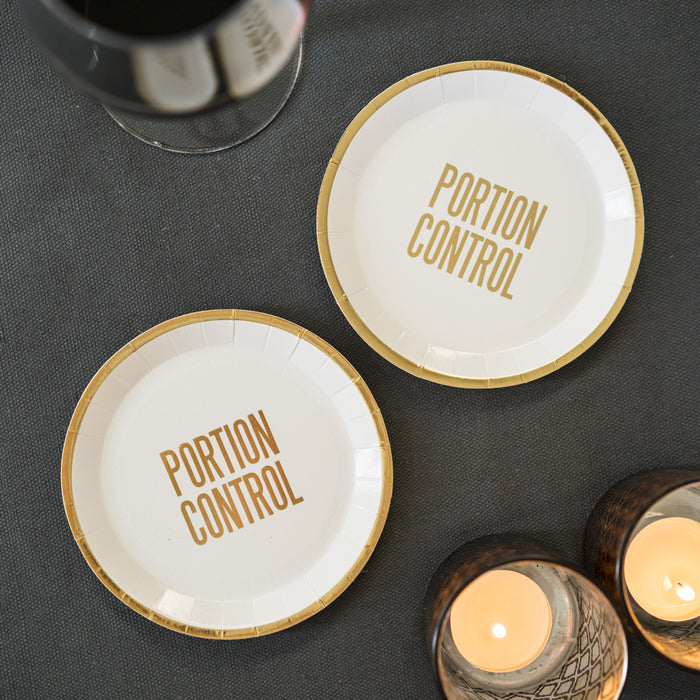 PORTION CONTROL CANAPE PLATES from Pop Cloud Bristol www.popcloud.co.uk who offer a huge range of partyware, wedding and event hire decorations
