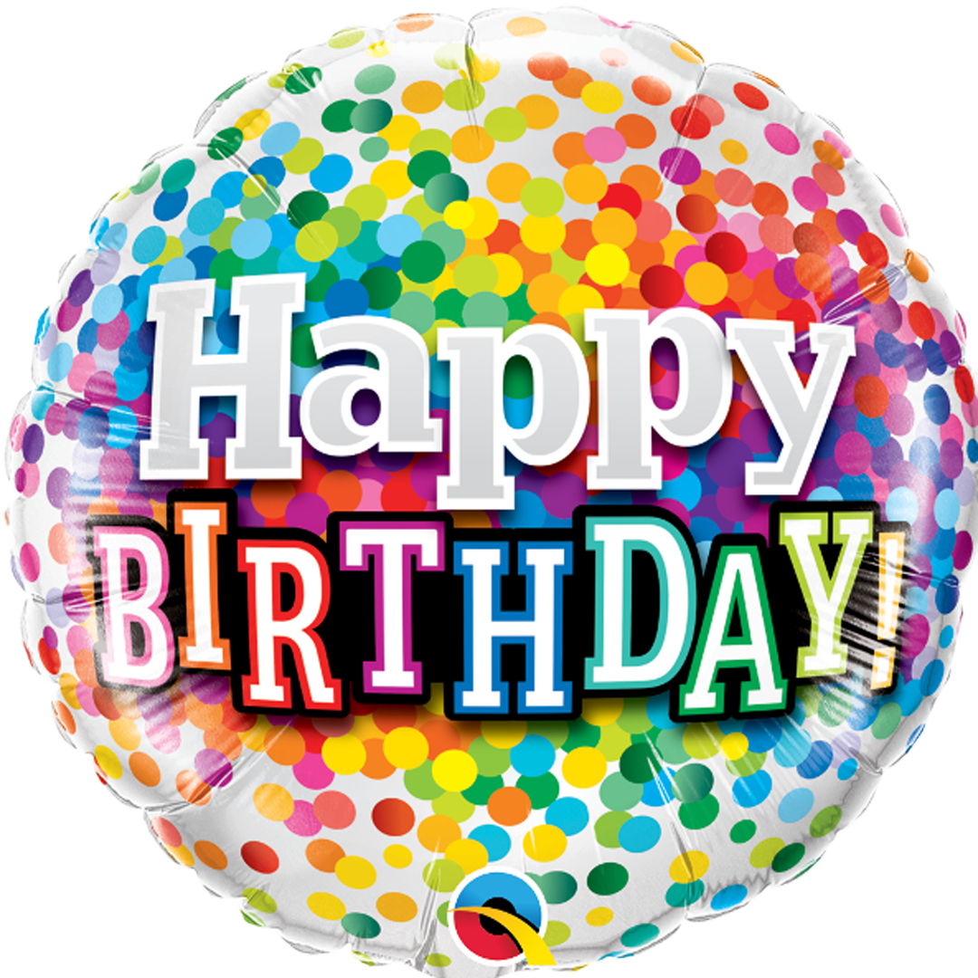 HAPPY BIRTHDAY RAINBOW BALLOON from Flingers Party World Bristol Harbourside who offer a huge range of fancy dress costumes and partyware items