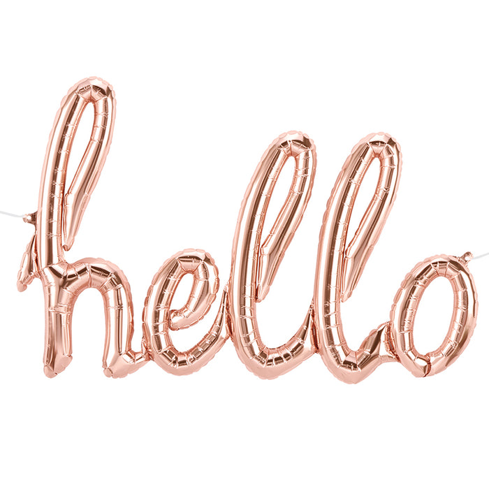 ROSE GOLD 'HELLO' BALLOON BANNER