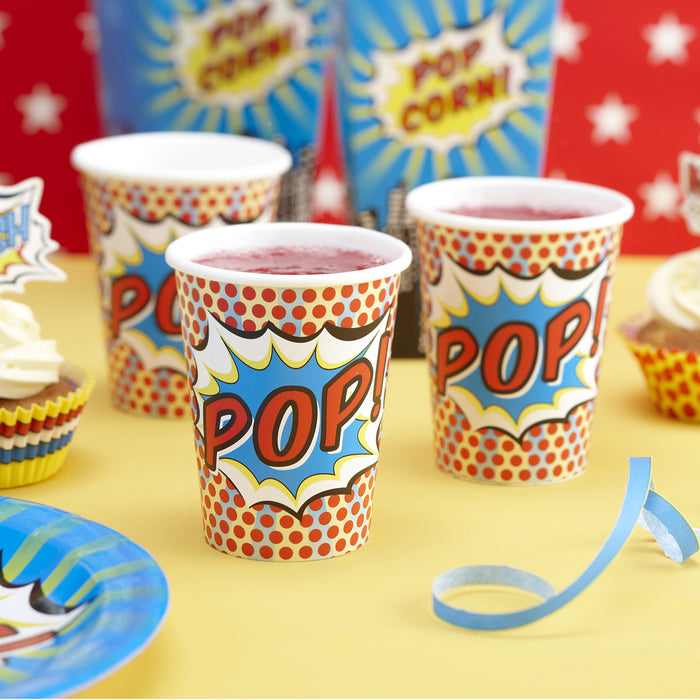 POP ART PARTY PAPER CUPS from Flingers Party World Bristol Harbourside who offer a huge range of fancy dress costumes and partyware items