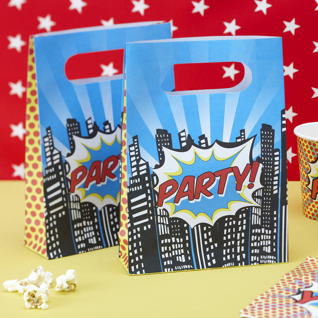POP ART PARTY BAGS from Flingers Party World Bristol Harbourside who offer a huge range of fancy dress costumes and partyware items