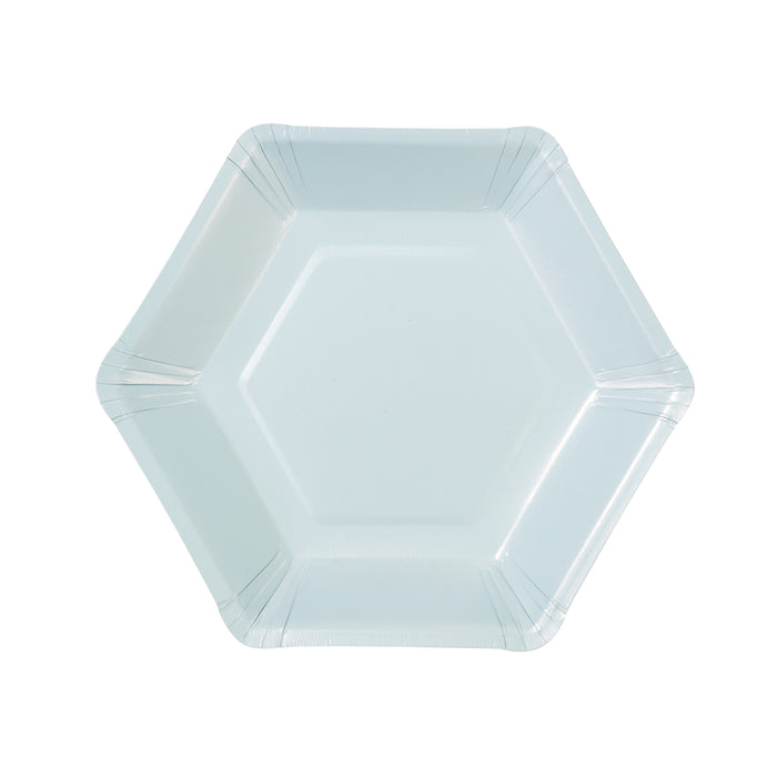 WE LOVE PASTEL HEXAGONAL PLATES from Flingers Party World Bristol Harbourside who offer a huge range of fancy dress costumes and partyware items