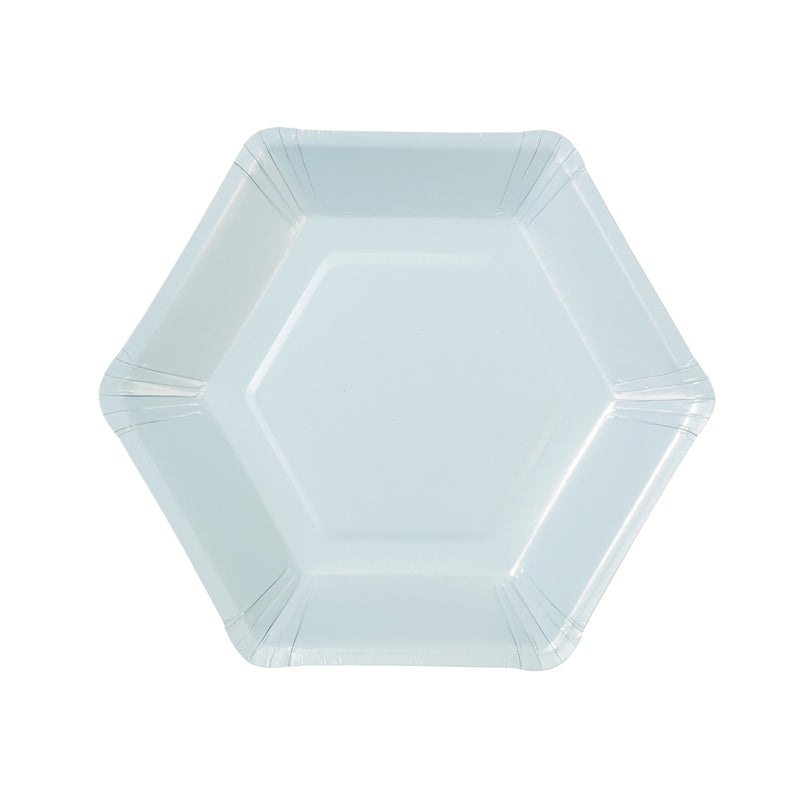 WE LOVE PASTEL HEXAGONAL PLATES from Pop Cloud Bristol www.popcloud.co.uk who offer a huge range of partyware, wedding and event hire decorations