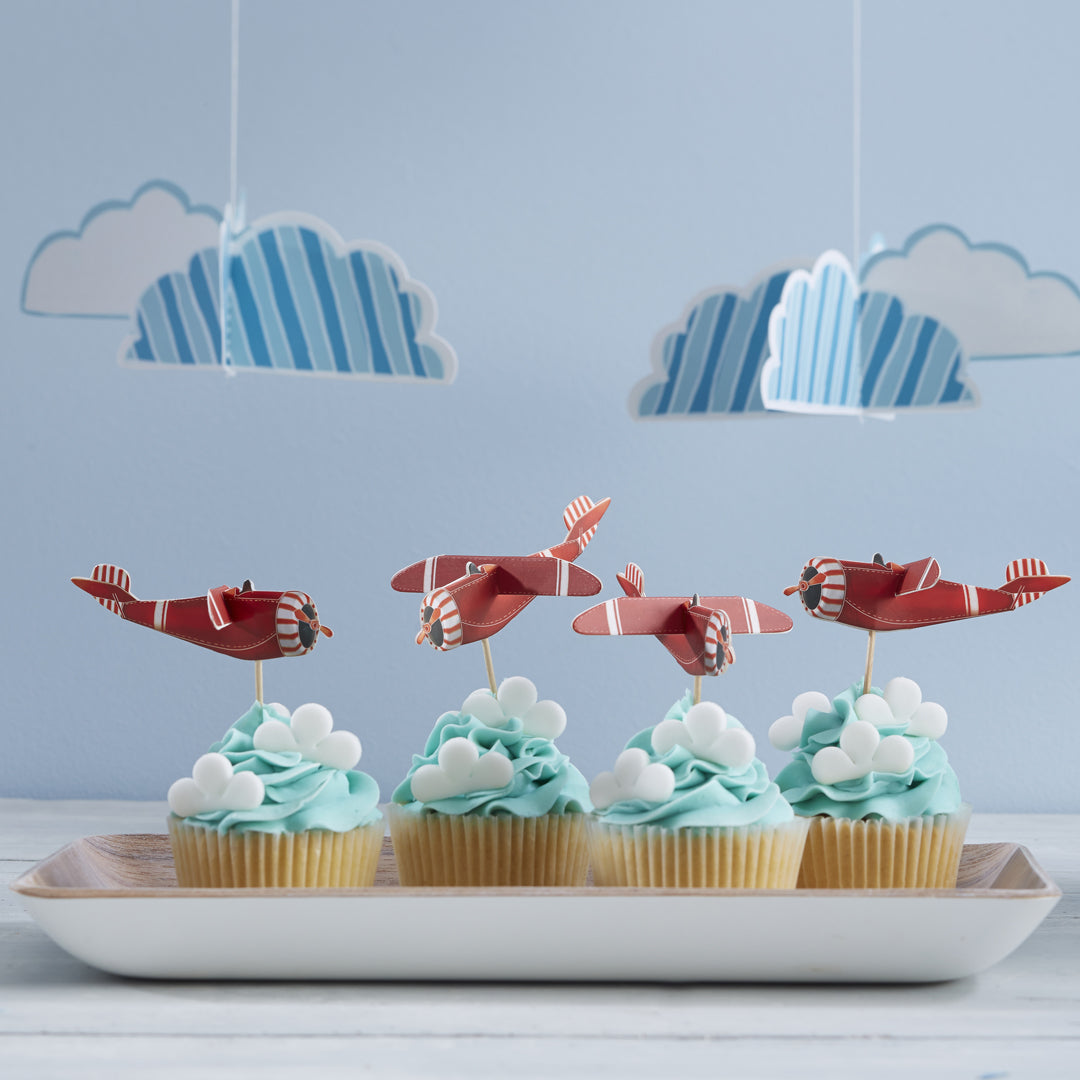 FLYING HIGH CUPCAKE STICKS from Flingers Party World Bristol Harbourside who offer a huge range of fancy dress costumes and partyware items