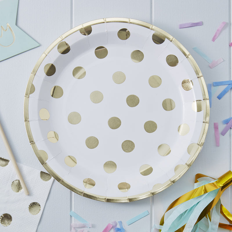 PICK AND MIX POLKA DOT PAPER PLATES from Flingers Party World Bristol Harbourside who offer a huge range of fancy dress costumes and partyware items