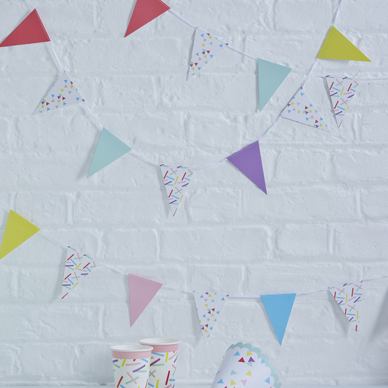 PICK AND MIX SPRINKLES MINI BUNTING from Flingers Party World Bristol Harbourside who offer a huge range of fancy dress costumes and partyware items