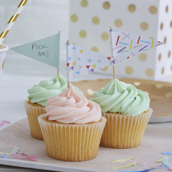 PICK AND MIX SPRINKLES CUP CAKE STICKS from Flingers Party World Bristol Harbourside who offer a huge range of fancy dress costumes and partyware items