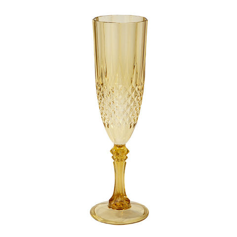 Party Porcelain Gold Champagne Flute from Pop Cloud Bristol who offer a huge range of partyware, wedding and event hire decorations
