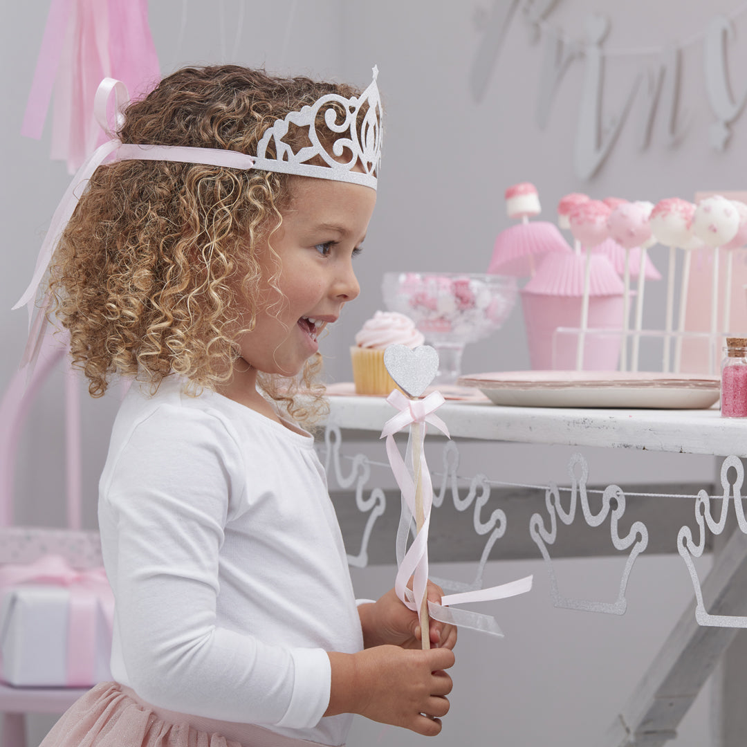 PRINCESS GLITTER TIARAS from Flingers Party World Bristol Harbourside who offer a huge range of fancy dress costumes and partyware items