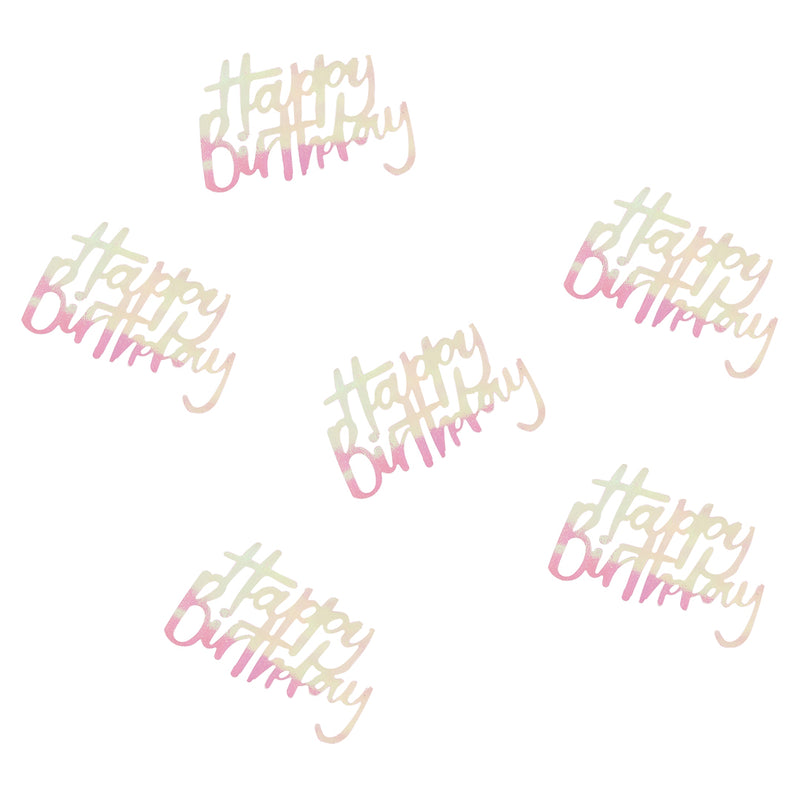 HAPPY BIRTHDAY IRIDESCENT CONFETTI from Flingers Party World Bristol Harbourside who offer a huge range of fancy dress costumes and partyware items